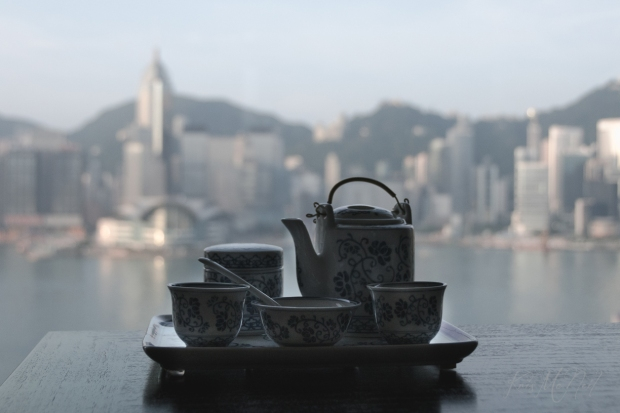 Afternoon Tea and Hong Kong Sklyline km