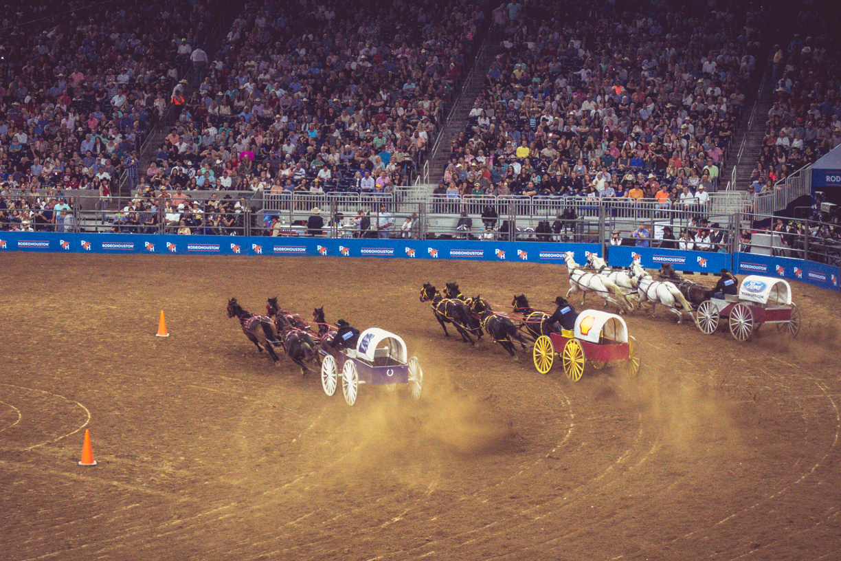 87.365.2018 Chuck Wagon Racing - Houston Livestock and Rodeo 2018